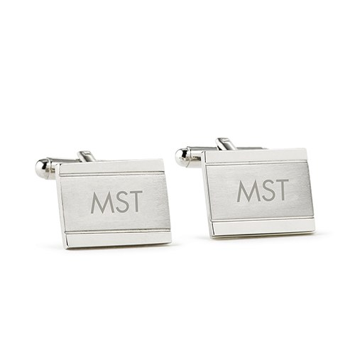 Classic Edward Cuff Links Rhodium Plated