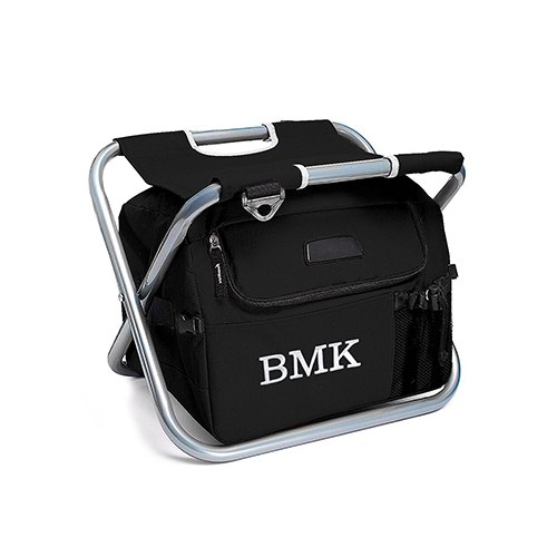 home personalized gifts for the groomsman cooler chair black