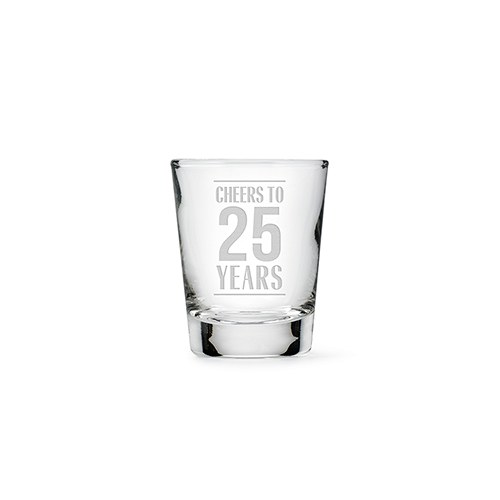 Personalized Clear 1 oz. Shot Glass - Cheers to the Years