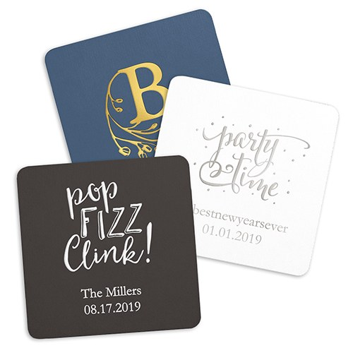 personalized paper coasters Buy custom coasters printed with your logo for a bar, restaurant or event available in bulk, our personalized coasters come in plastic, glass, paper and other styles.