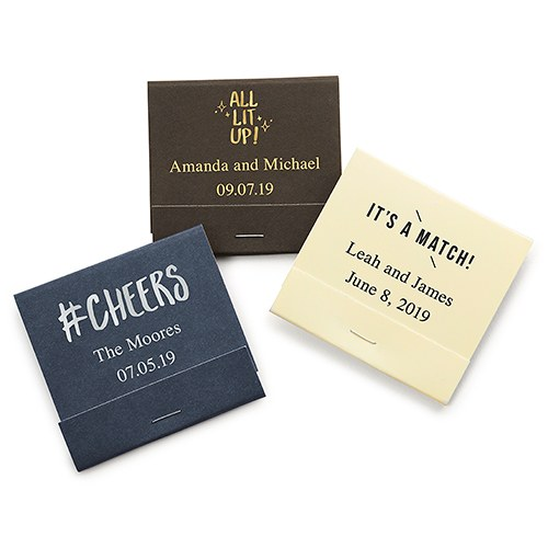 Custom wedding matchbooks personalized matchbooks the knot shop personalized matchbook colourmoves