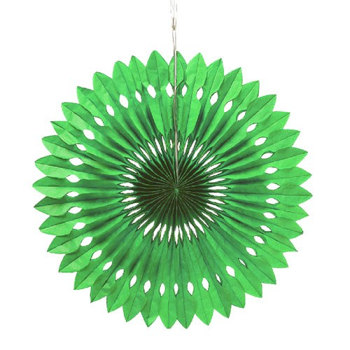 Paper Pinwheel Decor Green
