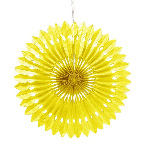 Paper Pinwheel Decor Yellow