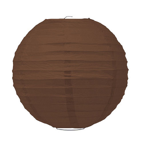 Large Paper Lantern Brown