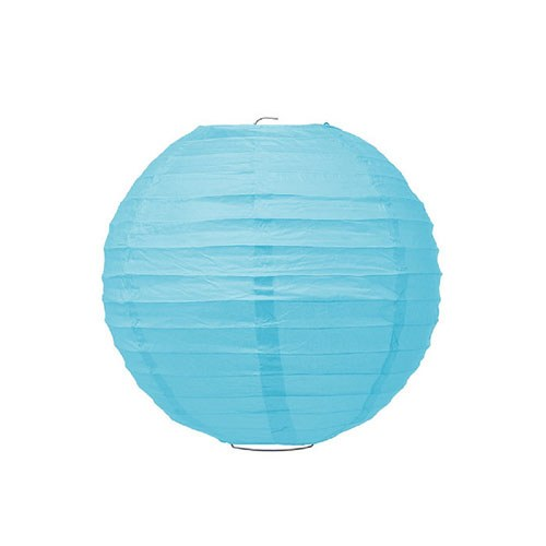Small Paper Lantern Turquoise