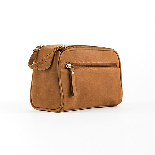 Tanned Genuine Leather Travel Bag   Personalized