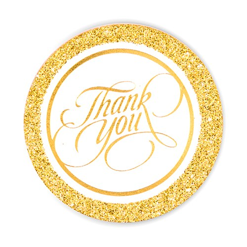 Glitter Thank You Tags
