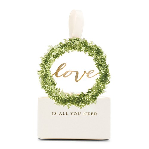Love Wreath Favor Box with Ribbon