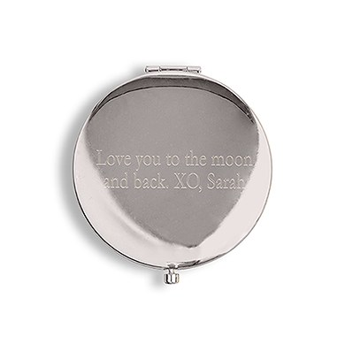 Custom Engraved Hand Held Pocket Mirror for Bridesmaid Present