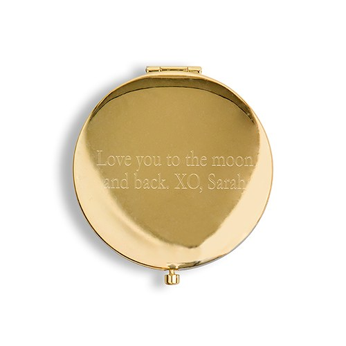 Designer Compact Mirror Little But Fierce Print