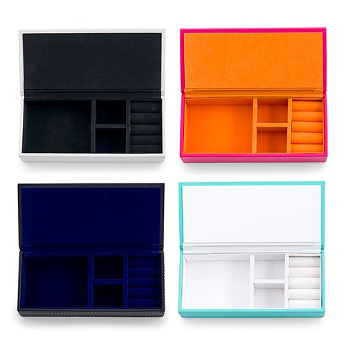 Large Faux Leather Jewelry Box- You're Amazing