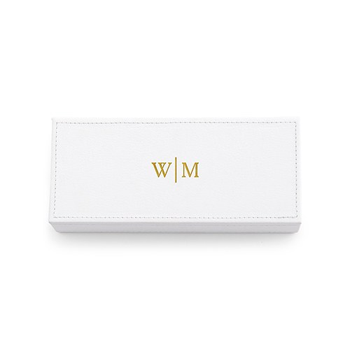 Personalized Faux Leather Jewelry Box Monogram Emboss