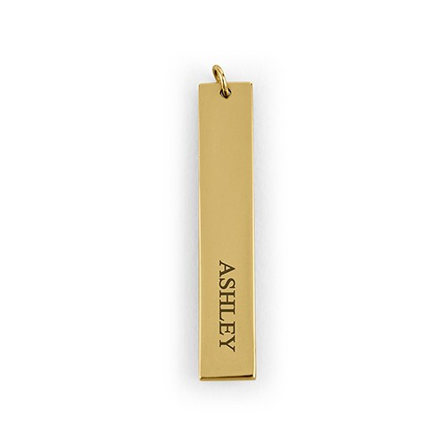 Personalized Vertical Tag Pendant – Classic Serif Font Engraving