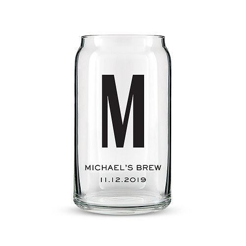 Can Shaped Glass Personalized - Custom Monogram Print