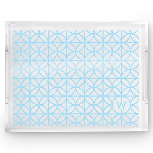 Rectangular Acrylic Tray - Summer Vibes Monogram Print