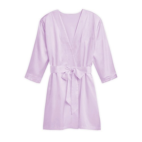 Silky Kimono Robe Lavender - Relaxed Fit