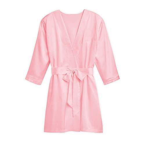 Personalized light pink silky kimono robe the knot shop for Robe de chambre seculo xix