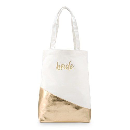 Gold Canvas Shopper Tote with Bridal Style Foiling