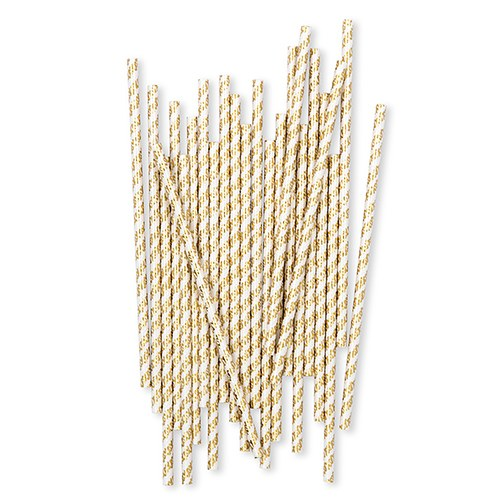 Gold Foil XO's Paper Drink Straws