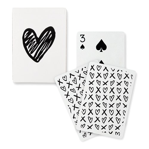 Black Foil Modern Heart Deck of Cards
