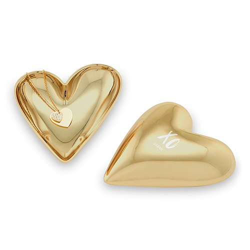 Small Personalized Gold Heart Jewelry Box – XO Engraving