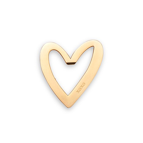 Gold Heart with XO Bottle Opener Favor