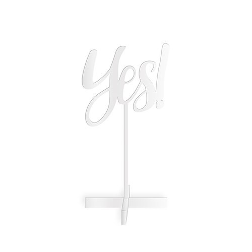 Yes! Acrylic Tabletop Sign