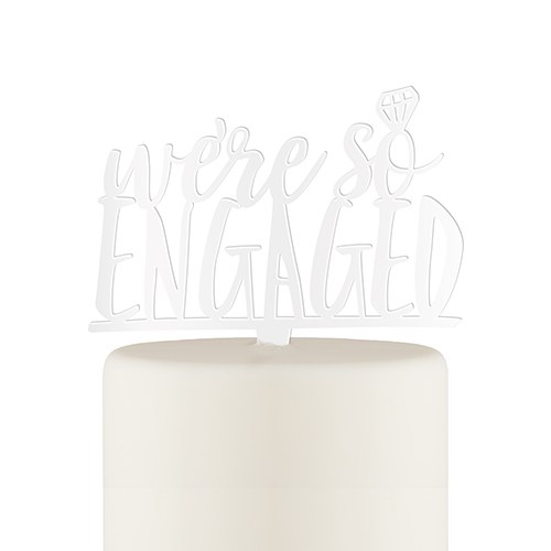 We're So Engaged Unique Cake Topper