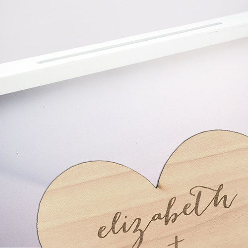 Aqueous Wedding Drop Box Guest Book Alternative