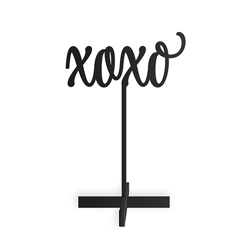Script XOXO Acrylic Sign - Black