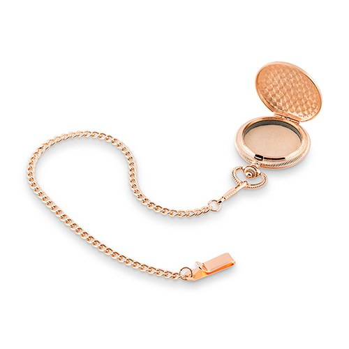 Rose Gold Pocket Wedding Ring Holder With Chain