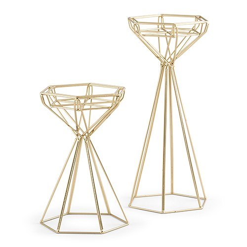 Top Geometric Candle Holder Set - The Knot Shop CD04