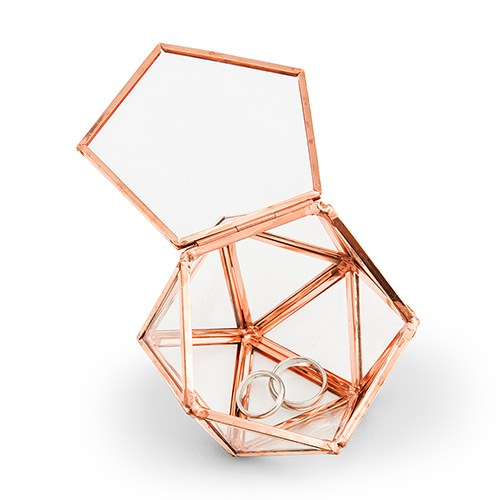 Small Glass Geometric Terrarium Style Ring Box