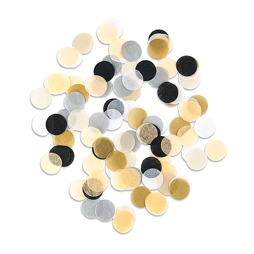 Mixed Metallics Jumbo Party Tissue Confetti - Gold  Silver  Black