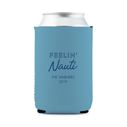 Custom Neoprene Foam Beer Can Party Koozie - Light Blue