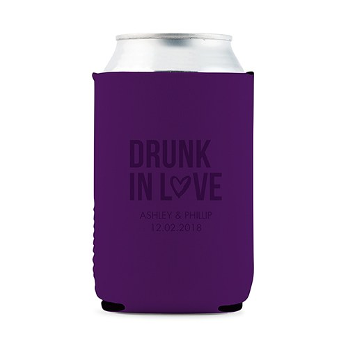 Custom Neoprene Foam Beer Can Party Koozie - Purple