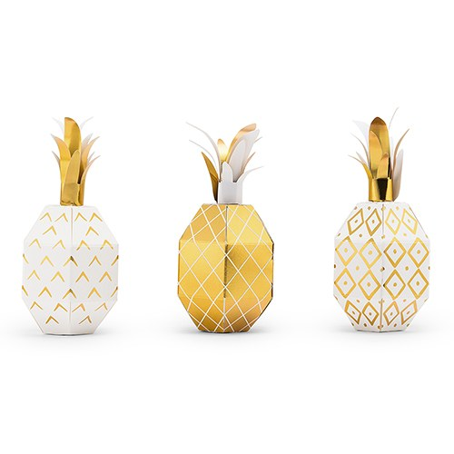 Tropical Pineapple Party Favor Boxes
