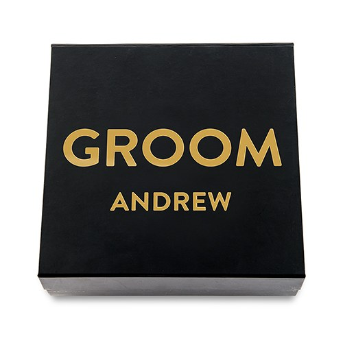 Premium Gift Box - Groom in Metallic Gold