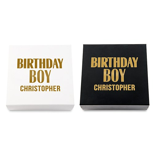 Premium Gift Box - Birthday Boy in Metallic Gold