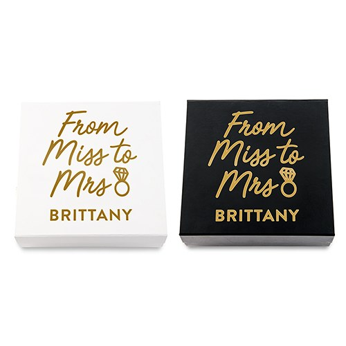 Premium Gift Box - Miss to Mrs in Metallic Gold