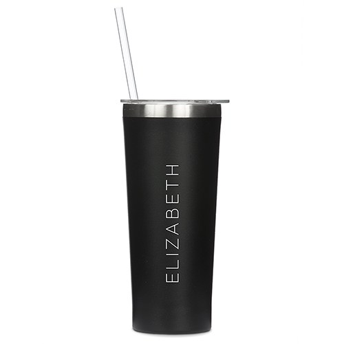 Stainless Steel Tumbler - Contemporary Vertical Line