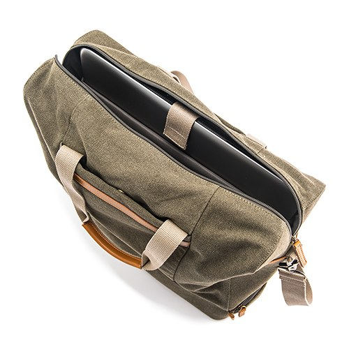 Weekend Carry On Bag - Genuine Leather & Canvas