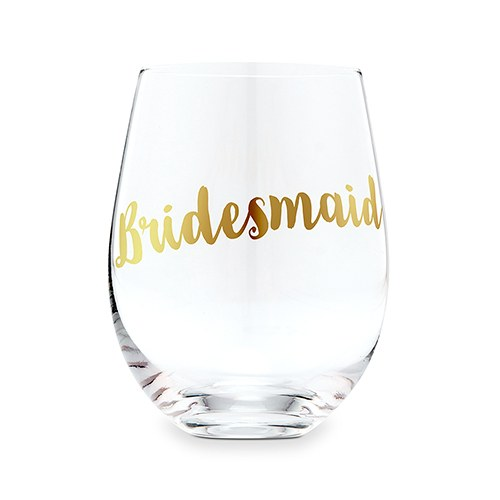 d6318b84739 Stemless Toasting Wine Glass Gift for Wedding Party - Bridesmaid -  Weddingstar
