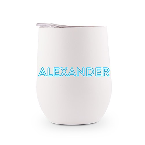 Personalized Stemless Travel Tumbler - Summer Vibes Line Printing