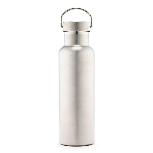 1851a29ac4 Chrome Stainless Steel Reusable Water Bottle – Plain Silver - The Knot Shop