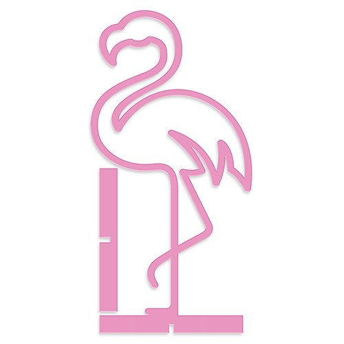 Acrylic Flamingo - Tabletop Decoration In Pink