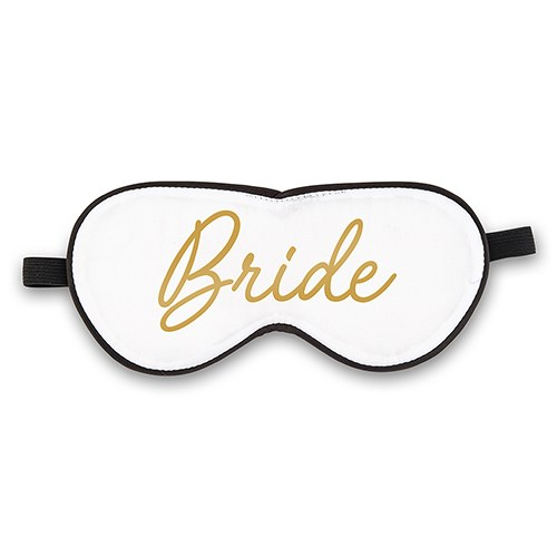 Satin Bride Sleep Mask - White