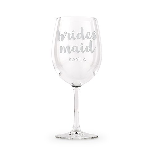 Large Personalized Wine Glass - Bridesmaid