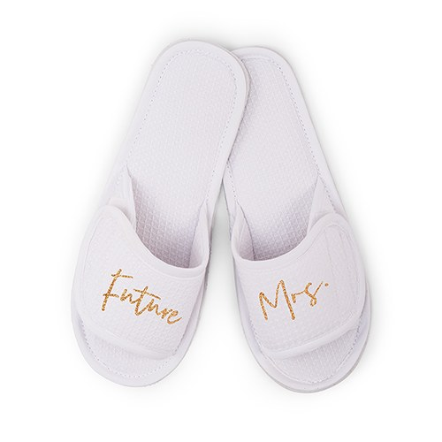 64285b71e32c9 Women's Cotton Waffle Spa Slippers - Future Mrs.
