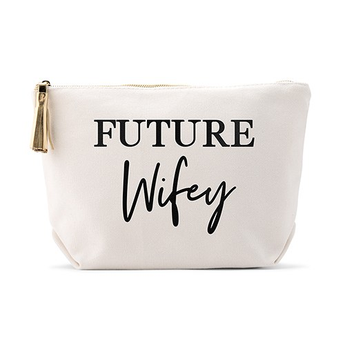 Personalized Canvas Makeup And Toiletry Bag For Women Future Wifey
